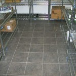 storage room tile install